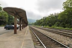 Deposito di treno Fotografie Stock Libere da Diritti