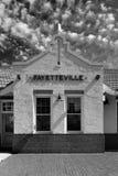 Deposito di treno di Fayetteville fotografia stock