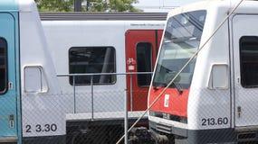 Deposito di treno di FGC Immagini Stock Libere da Diritti