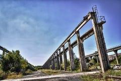 Deposito di treno storico Fotografie Stock Libere da Diritti
