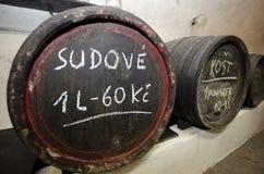 Deposito di vino Fotografie Stock