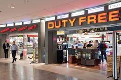 Deposito esente da dazio all'aeroporto fotografia stock libera da diritti