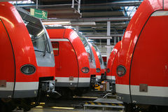 Deposito ferroviario. Fotografia Stock Libera da Diritti