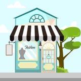Deposito Front Building Background Illustration di modo illustrazione di stock