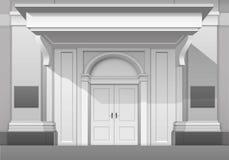 Deposito Front Isolated della costruzione del boutique del museo del negozio Immagini Stock Libere da Diritti