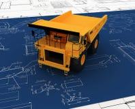 Deposito giallo ed abbozzo blu Fotografia Stock Libera da Diritti