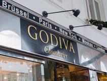 Deposito Godiva Chocolatier di Godiva a Amburgo immagini stock libere da diritti