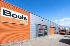 Deposito locativo di Boels in Leiderdorp, Paesi Bassi Immagine Stock