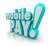 Deposito mobile App di pagamento dello Smart Phone delle cellule di parole di paga 3d Immagini Stock Libere da Diritti