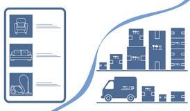 Deposito online di consegna online del magazzino delle merci di ordine royalty illustrazione gratis