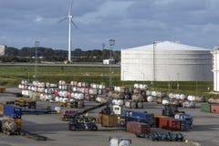 Deposito - porto di Rotterdam - i Paesi Bassi Fotografia Stock