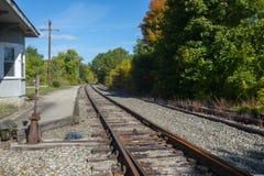 Deposito storico della ferrovia in Merrimack New Hampshire, U.S.A. fotografia stock libera da diritti