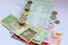 Depositorekening, zaken op een witte achtergrond royalty-vrije stock afbeelding