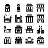 Depository home, bank, financial institute, villa, hut, house, city hall, modern house, farmhouse, warehouse, apartments, meeting vector illustration