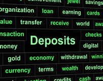 Deposits Deposit Represents Part Payment And Advance Royalty Free Stock Photos