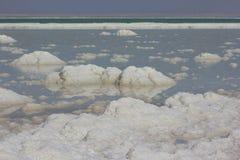 Deposits of mineral salts, Dead Sea, Israel Stock Photo