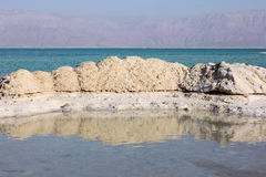 Deposits of mineral salts, Dead Sea, Israel Stock Images