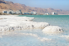 Deposits of mineral salts, Dead Sea, Israel Royalty Free Stock Images