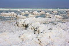 Deposits of mineral salts, Dead Sea, Israel Royalty Free Stock Photos