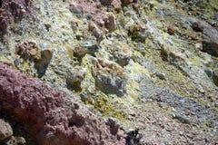 deposits sulphur vulkaniskt Royaltyfri Bild