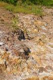 deposits sulphur vulkaniskt Arkivfoto