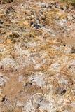 deposits sulphur vulkaniskt Royaltyfria Bilder