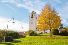 Depot Boise Baum des blauen Himmels und des Herbstes lizenzfreie stockfotos
