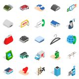 Depot icons set, isometric style. Depot icons set. Isometric set of 25 depot vector icons for web isolated on white background Royalty Free Stock Photos