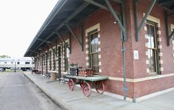 Depot and Railroad Museum Exterior, Jackson Tennessee. Royalty Free Stock Image
