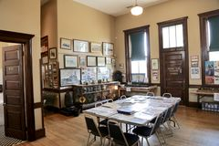 Depot-und Eisenbahn-Museums-Innenraum, Jackson Tennessee Stockbild