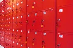 Depozytowi szafek pudełka Zdjęcia Stock