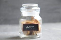 Depozytu lub oszczędzania pieniądze pojęcie Obraz Stock
