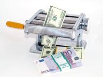 Depreciación del dinero - inflación Imagen de archivo libre de regalías