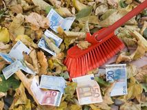 Depreciation of currency. Crisis. Stock Photo