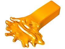 Depreciation: Melting goldbar isolated on white. Depreciation: Melting goldbar isolated over white background Stock Photos
