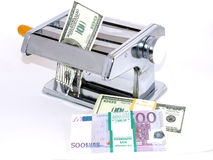 Depreciation of money - inflation Stock Photo