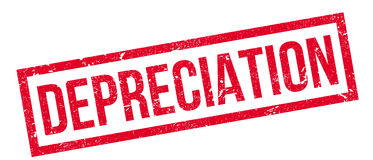 Depreciation rubber stamp Royalty Free Stock Photo