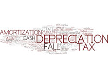 Depreciation Word Cloud Concept Royalty Free Stock Photography