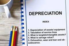 Depreciation Royalty Free Stock Images