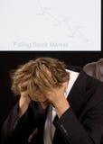 Depresed broker Stock Photography