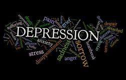 Depresión Imagen de archivo