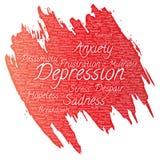 Depresión del vector o desorden emocional mental libre illustration