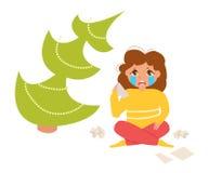 Depresión estacional holidays ilustración del vector