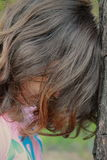 Depresión triste joven de la mujer Foto de archivo