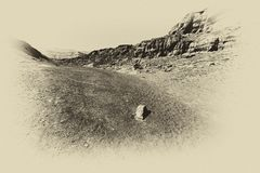 Depresión y vacío en blanco y negro foto de archivo libre de regalías