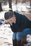 Depresión del invierno Fotografía de archivo libre de regalías