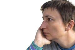 Depresions-Frau Stockfoto