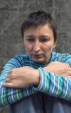 Depresions-Frau Lizenzfreie Stockfotografie