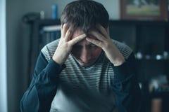 Depresja dorosłego mężczyzna Zdjęcie Stock