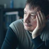 Depresja dorosłego mężczyzna Zdjęcia Stock